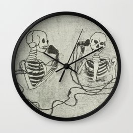 Skeleton's telephone. Wall Clock
