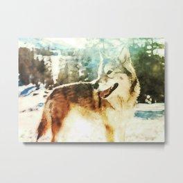 wolf art print Metal Print
