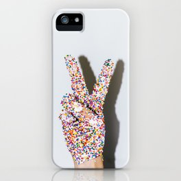 Peace, Love, and Sprinkles iPhone Case