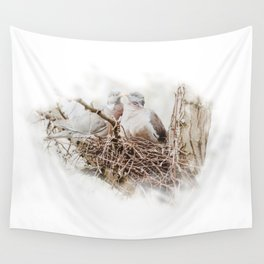 Pigeons cuddling Wall Tapestry