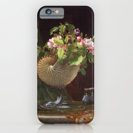 Still Life With Apple Blossoms In A Nautilus Shell 1870 By Martin Johnson Heade | Reproduction iPhone Case