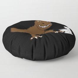 Jurassic Pixel Floor Pillow