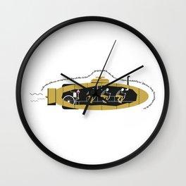 Cycling Sub Wall Clock