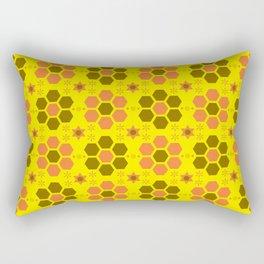 retro beehive pattern Rectangular Pillow