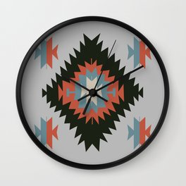 Southwestern Santa Fe Tribal Indian Pattern Wall Clock