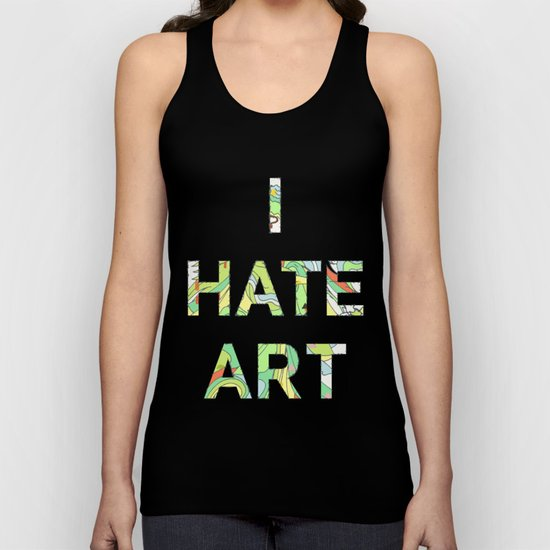 I HATE ART Unisex Tank Top
