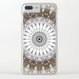 Mandala with an abstract romantic touch Clear iPhone Case