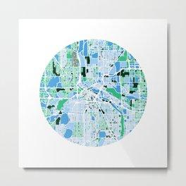 Minneapolis Minnesota Mosaic Map Metal Print