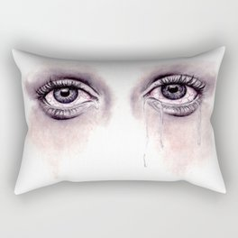Bloodshot Eyes Doodle  Rectangular Pillow