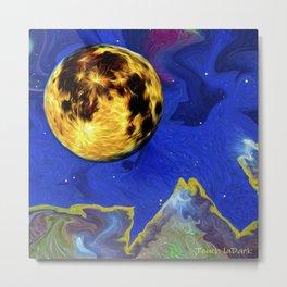 Full Moon on an Alien Horizon. Metal Print