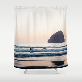 Cape Kiwanda Surfers - Pacific Northwest Shower Curtain
