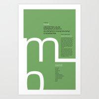 Eurostile Typography Poster Art Print