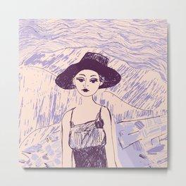 Woman on th beach 9 Metal Print
