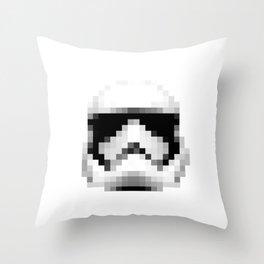 Vintage 2017 Storm Trooper Helmet Pixel - Starwars Throw Pillow