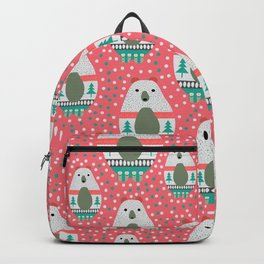 Bears with dots in pink Backpack