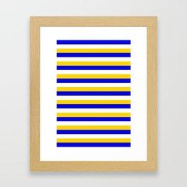 Bosnia Herzegovina Uruguay flag stripes Framed Art Print