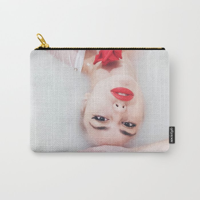 Floral bath Carry-All Pouch