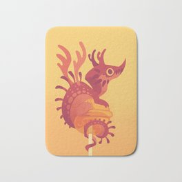 Dragonpop alebrije cherry orange Bath Mat