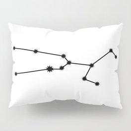 Taurus Star Sign Black & White Pillow Sham