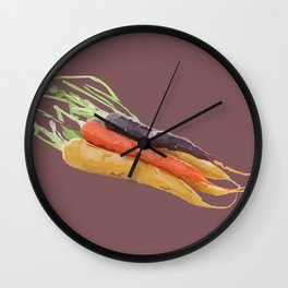 Rainbow Carrots Wall Clock