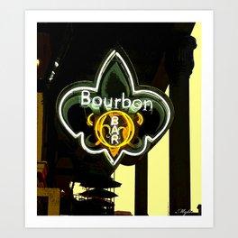 New Orleans Bourbon Street Bar Art Print