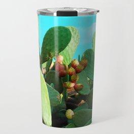 Cactus fruit turquoise Travel Mug