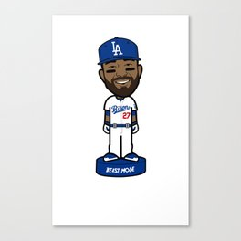 """THE VICTRS """"The Bison"""" Bobble Toon Canvas Print"""