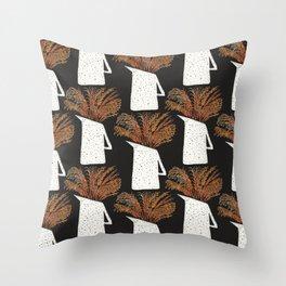 Autumn Still Life with Pampas Grass Throw Pillow