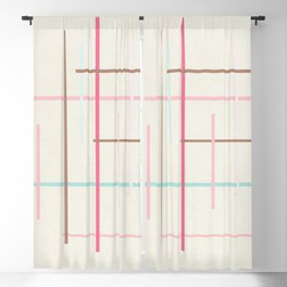Criss Cross Blackout Curtain