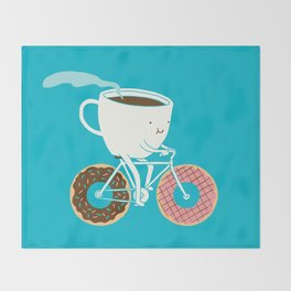 Coffee and Donuts Throw Blanket