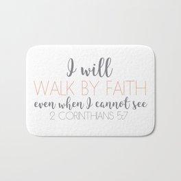2 Corinthians 5:7 Bath Mat