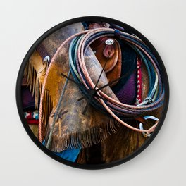Tools of the Trade - Cowboy Saddle Closeup Wall Clock