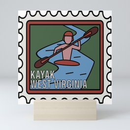 KAYAK WEST VIRGINIA  Mini Art Print