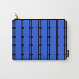 Ornaments Vint. blue with black lines Carry-All Pouch