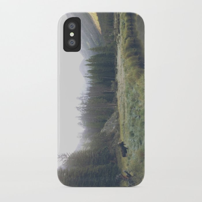 Morning Meadow Moose iPhone Case