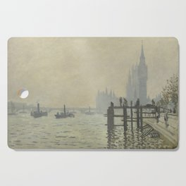 Claude Monet - The Thames Below Westminster Cutting Board