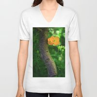 poppies V-neck T-shirts featuring Poppies by Falko Follert Art-FF77