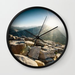 Half Dome Sunrise Wall Clock