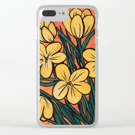 Yellow Crocuses Clear iPhone Case