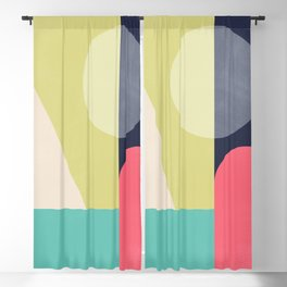 Abstract Geometric Shapes 51 Blackout Curtain