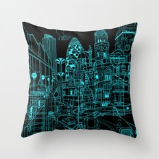 London! Night Throw Pillow