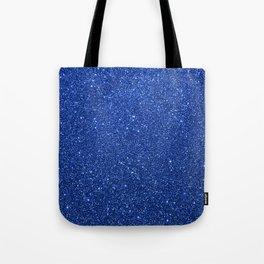 Cobalt Blue Glitter Tote Bag