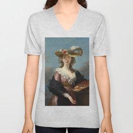 Louise Élisabeth Vigée Le Brun - Self Portrait in a Straw Hat Unisex V-Neck