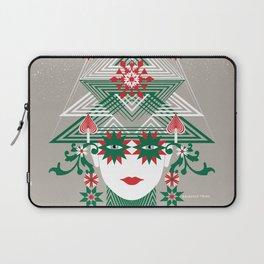 Christmas woman tree Laptop Sleeve