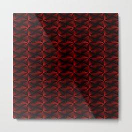 Rectangles of luminous red rhombuses and black pyramidal triangles. Metal Print