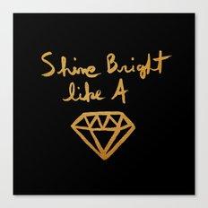 Shine (black gold edition) Canvas Print