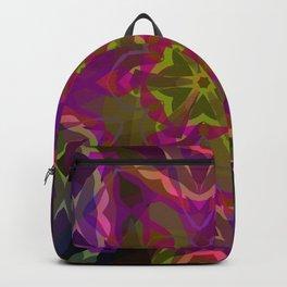 Crimson -purple kaleidoscope Backpack