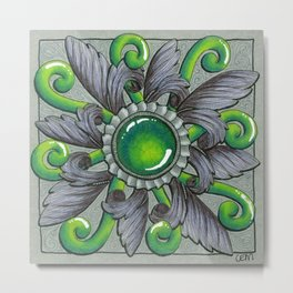 Ornate Jade Metal Print