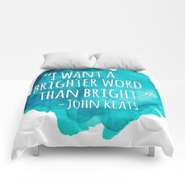 A Brighter Word than Bright - John Keats Comforters