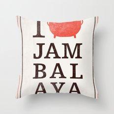 I Heart Jambalaya Throw Pillow